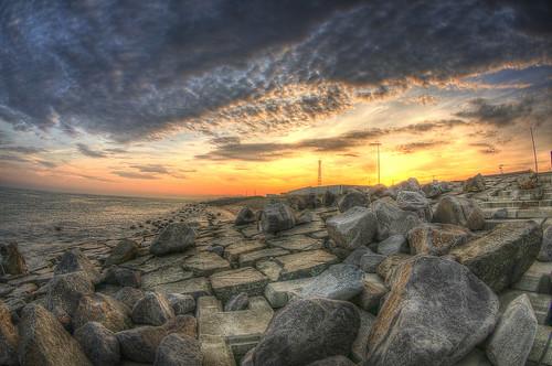 sunset sky japan clouds landscape hdr photomatix tomakomai