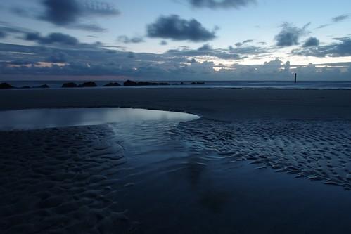 ocean longexposure blue sky seascape beach water clouds ga seaside sand rocks pentax earlymorning ripples bluehour lowtide puddles f11 atlanticocean 15mm beforesunrise jetties theblues landscapephotography tybeeislandgeorgia fortscreven k5ii
