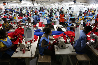 Dignity factory workers producing shirts for overseas clients, in Accra, Ghana | by World Bank Photo Collection
