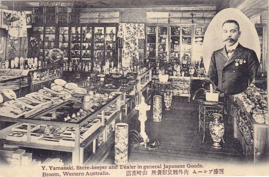 Y. Yamasaki, store keeper and dealer in Japanese goods in Broom(e), Western Australia - circa 1909