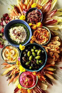 The Ultimate Vegan Appetizer Platter from HeatherChristo.com | by Heather Christo