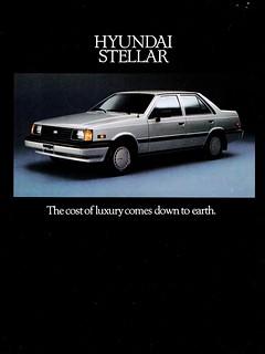1986 Hyundai Stellar (Canada)