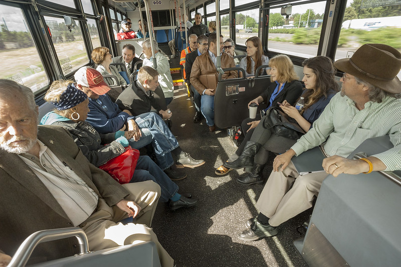 On board the Woodburn City Bus