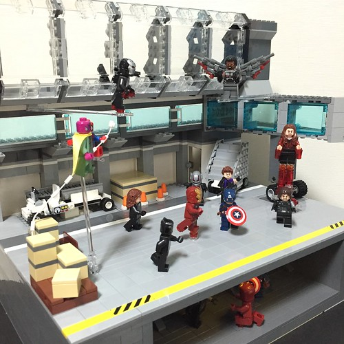 lego captain america:civil war - airport battle diorama