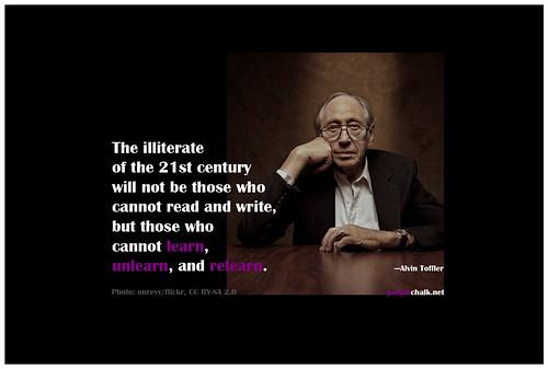 Learn, unlearn, relearn   by purplechalk