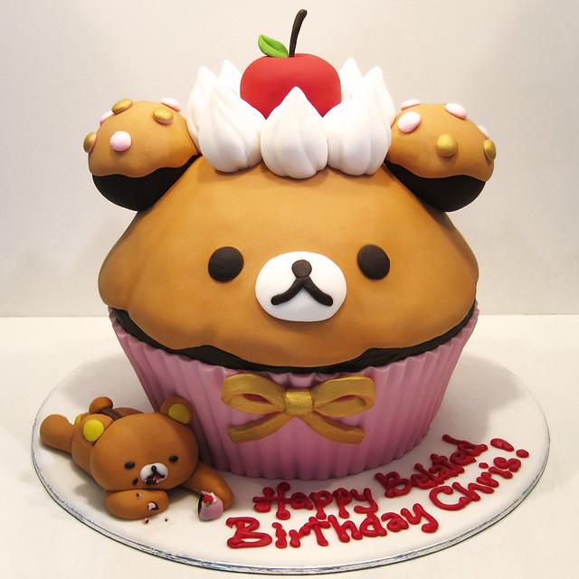 rilakkuma cupcake cake