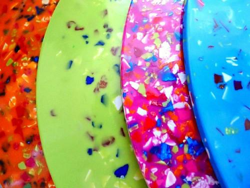 Confetti Plates   by Lori L. Stalteri