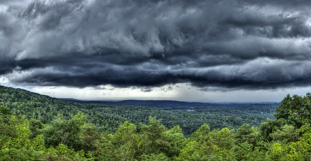 Storm clouds, Sunset Rock, White County, Tennessee