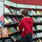 Bookshop browsing | Browsing in the Book Festival's main bookshop