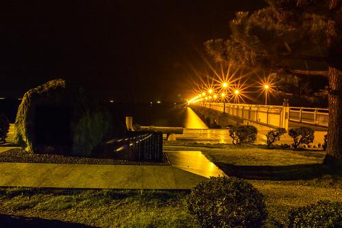 park travel bridge light sea beach japan night canon landscape eos rebel seaside lowlight kiss place nightshot bokeh sigma 日本 seashore aichi x4 lightroom gamagori 550d t2i 18250mm petertoshiro gamagorishi