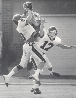 In 1993, the Pomona-Pitzer football team had a 4-4 record, the best in 22 years. Robert Christman '95 and Andy Paik '93 were two players that helped the Sagehens soar that year.