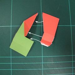 วิธีทำโมเดลกระดาษตุ้กตา คุกกี้ รัน คุกกี้รสซอมบี้ (LINE Cookie Run Zombie Cookie Papercraft Model) 015