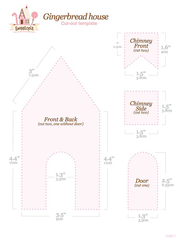 gingerbread house template to colour  Gingerbread House Template Free Printable | Find the full ...