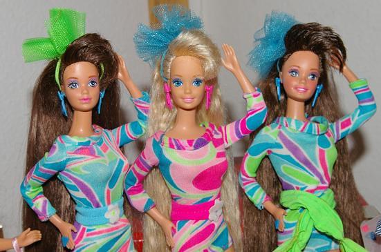 Totally Hair Whitney, Barbie blonde & brunette
