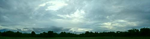 sunset panorama orange cloud sun house reed nature beautiful dawn afternoon cloudy kodak ngc fields z650 reedfields