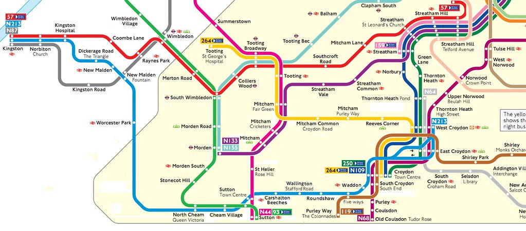 Map Bus London.What I Think The South London Night Bus Map Should Look Li Flickr
