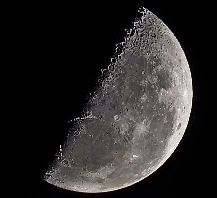 Luna cuarto menguante / Last quarter moon   Celestron C6 SCT…   Flickr