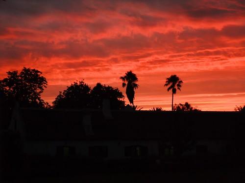 sunset southafrica sonnenuntergang capetown stellenbosch südafrika spiersstellenbosch