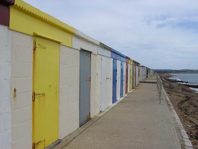 Beach huts at Milford-on-Sea