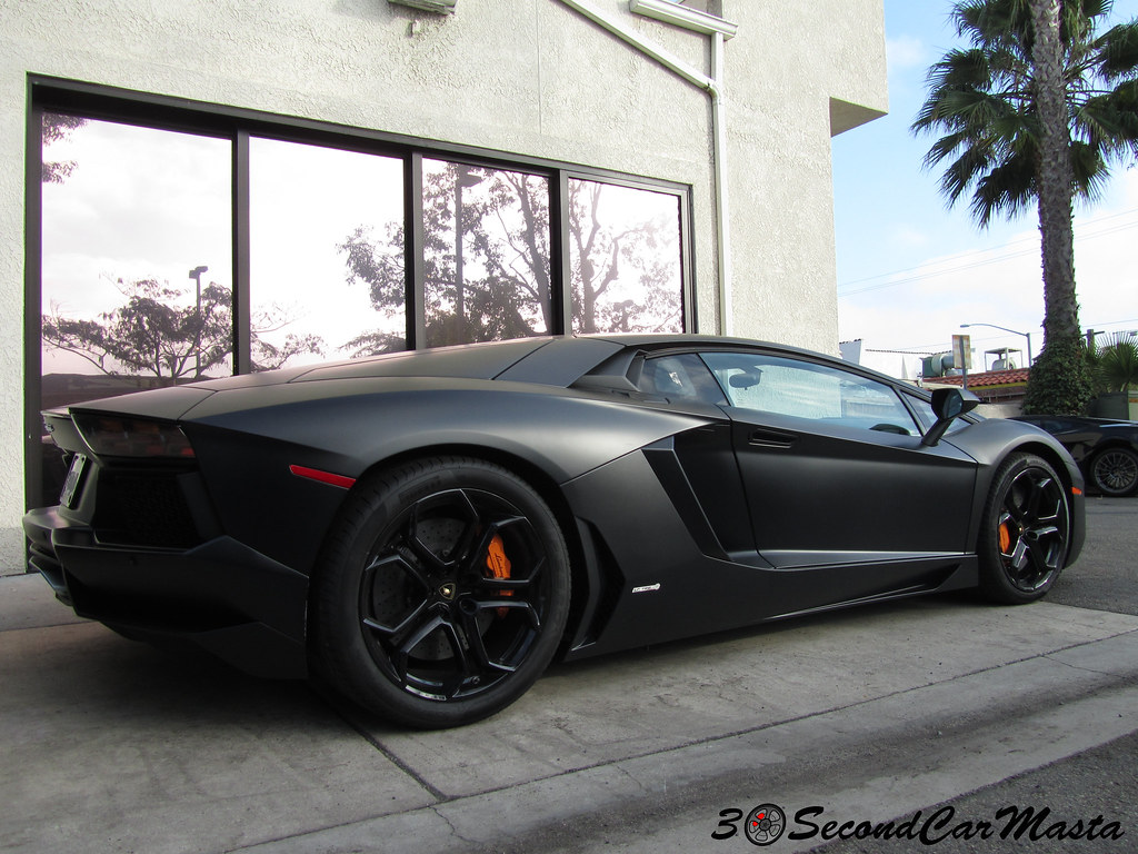 Matte Black Lamborghini Aventador Lp700 4 Matte Black Lamb Flickr