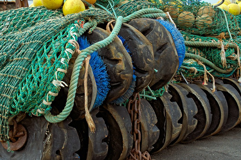 Fanggeschirr des Trawlers Nida
