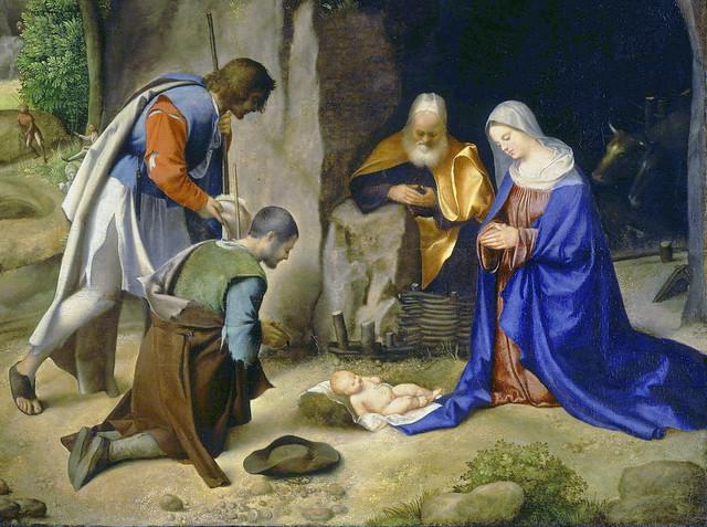 Giorgione - Adoration of the shepherds, detail