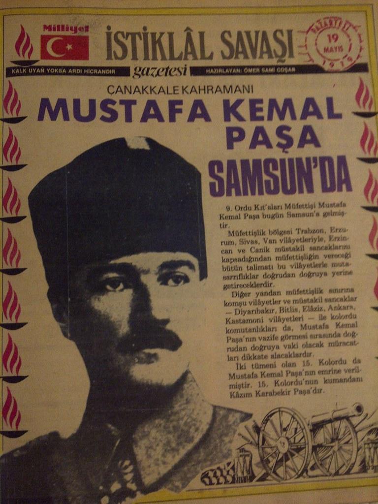 19 MAYIS 1919 SAMSUNA ÇIKIŞ ile ilgili görsel sonucu