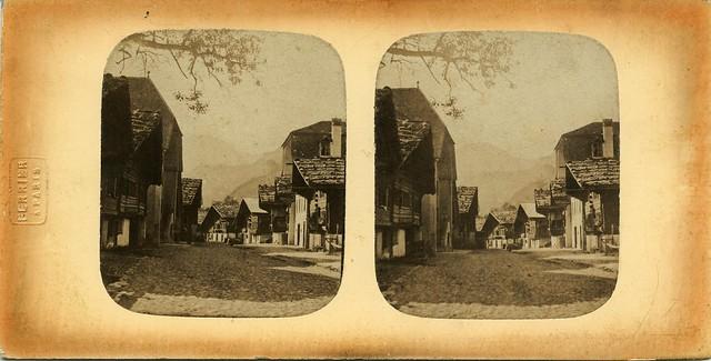 Claude-Marie Ferrier - Une rue de Meiringen, Switzerland, 1856/58