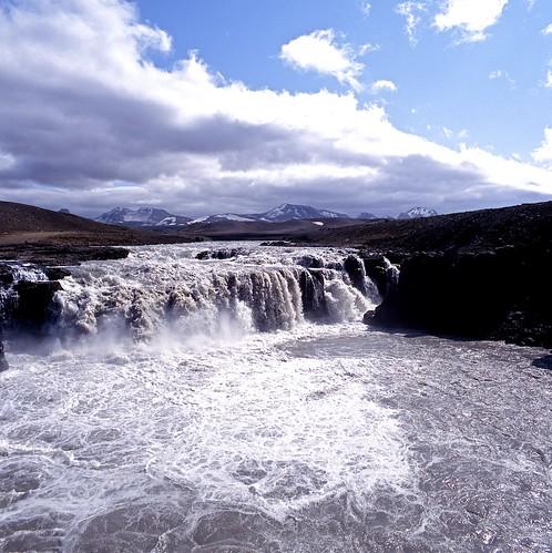 "Image titled ""Waterfall, Kjölur pass, Iceland."""