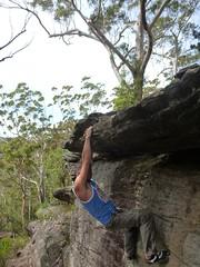 Steve Crombie Climbing Ledge - Forest Island Bushwalk - Royal National Park Sydney