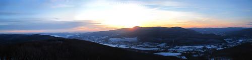 winter sunset panorama snow ma us unitedstates vista photomerge crepusculo westernmassachusetts northadams mountgreylock mtgreylock taconics sprucehill berkshirecounty viewshed hoosicriver hoosickriver hoosacriver savoymountainstateforest hoosacrange