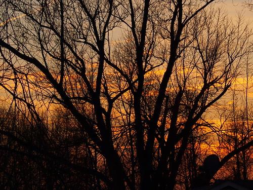 sunset sky golden sundown