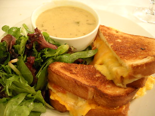 Grilled Cheese and Corn and Shrimp Chowder at The Zodiac Room | by Tom Ipri
