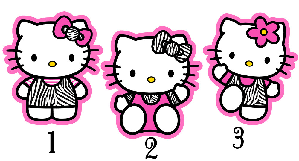Swell Zebra Hello Kitty Centerpiece Birthday Party Supplues Deco Interior Design Ideas Clesiryabchikinfo