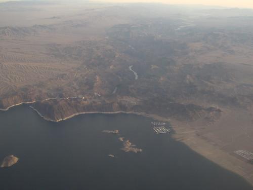 Hoover Dam and Colorado River  from Flight Between Las Vegas, Nevada and Denver, Colorado | by Ken Lund