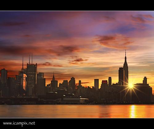 nyc newyorkcity ny newyork canon newjersey newyorkskyline hudsonriver empirestatebuilding abigfave newyorksunrise anawesomeshot colorphotoaward xmaxprocessing xmax2909