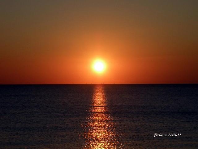 Mallorca -playa El arenal atardecer-2