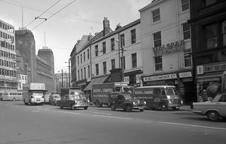 Traffic on Newgate Street, Newcastle upon Tyne, 1961