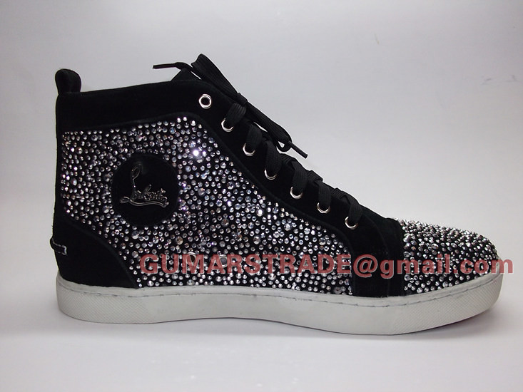low priced 69067 bced1 Christian Louboutin crystal shoe Louis silver strass sneak ...