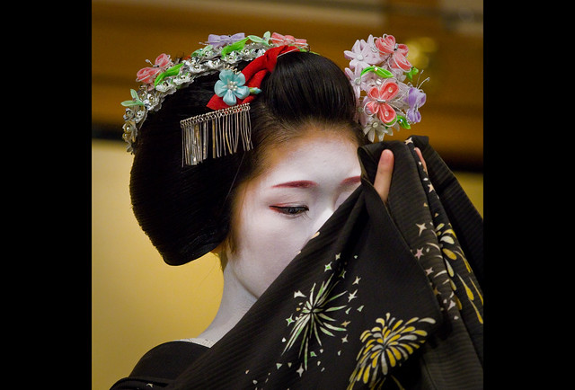 Maiko Koyoshi at Gion Corner during the summer Gion Festival (2011)