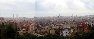 Panorama of Barcelona from Parc Güell, Park Guell, Barcelona, Spain | by MsAdventuresinItaly