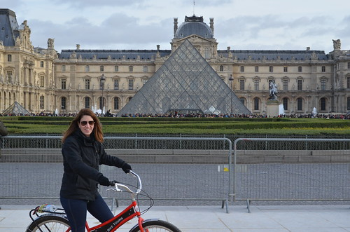me at the Pyramide du Louvre   by elysia1