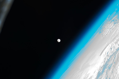 The Moon and Earth (NASA, International Space Station, 01/08/12) | by NASA's Marshall Space Flight Center