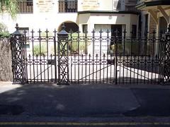 Side entrance gates to Martindale.
