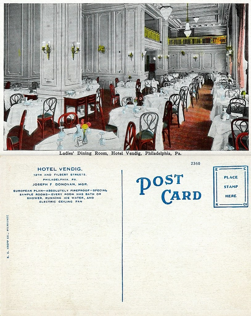 Ladies Dining Room Postcard Front And Back My Great Gre