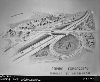 Proposed Madison Street interchange on R.H. Thomson Freeway, 1960