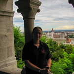 Looking over Hungarian Parliament building from Buda Castle, Budapest