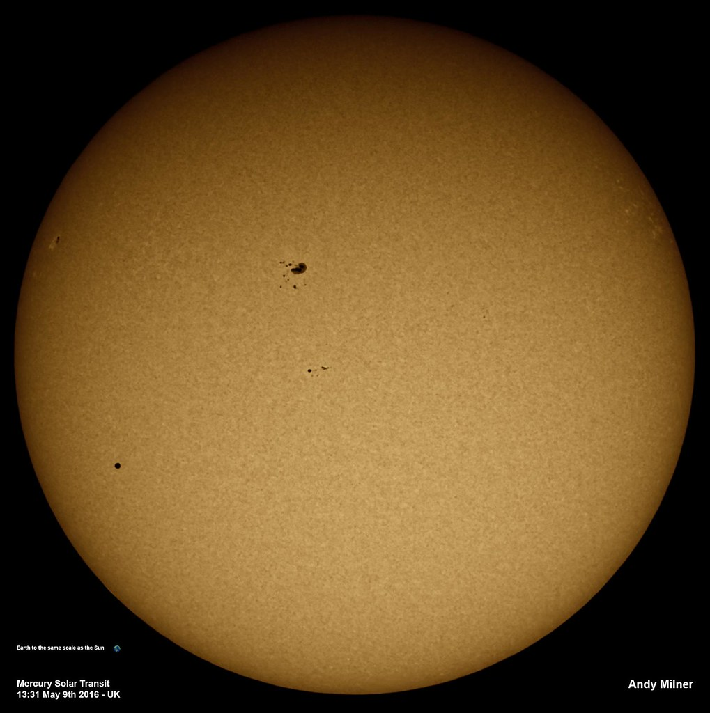Mercury Solar Transit 9th May 2016