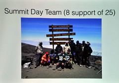 The group took 9 days of climbing to reach the top. Each year between 25,000 - 30,000 people attempt to climb it and only 55-65% actually succeed. Also, there are 3-7 people who die each year in attempting to reach the top. Finally...Andy raised $3,500 for CART by completing the climb.