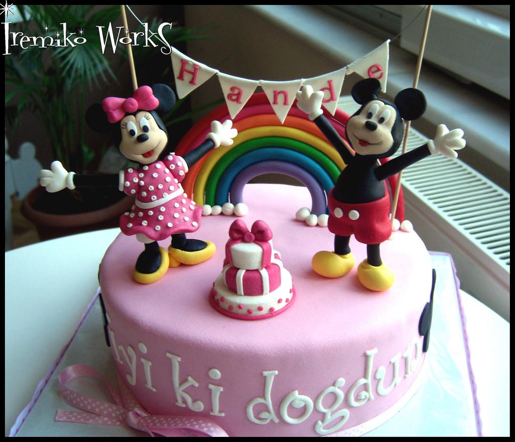Wondrous Mickey And Minnie Birthday Cake Irem Pekin Flickr Funny Birthday Cards Online Overcheapnameinfo